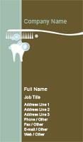 Teal and Brown Dentist Business Card Template